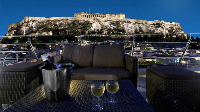 Rooftop bar Athens Roof Garden Snack Bar at Plaka Hotel