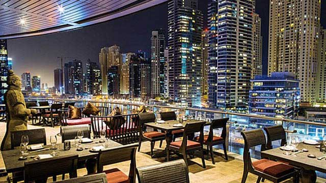 Rooftop bar Dubai Asia Asia at Pier 7 in Dubai