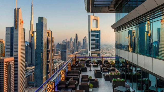 Rooftop bar Dubai Level 43 Sky Lounge in Dubai