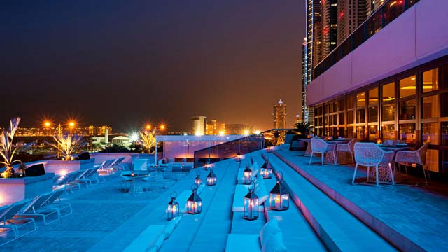 Rooftop bar Dubai Siddharta Lounge in Dubai