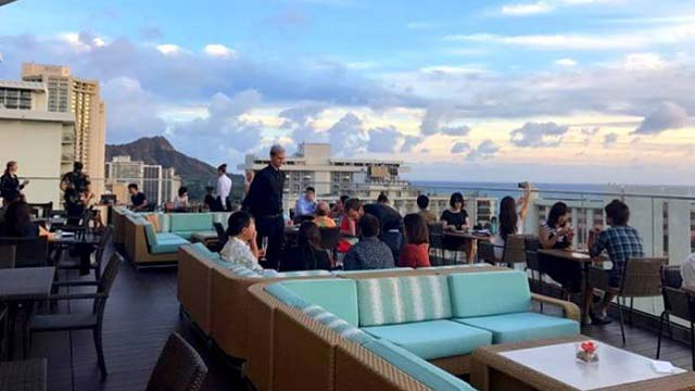 Sky Waikiki Rooftop bar in Hawaii