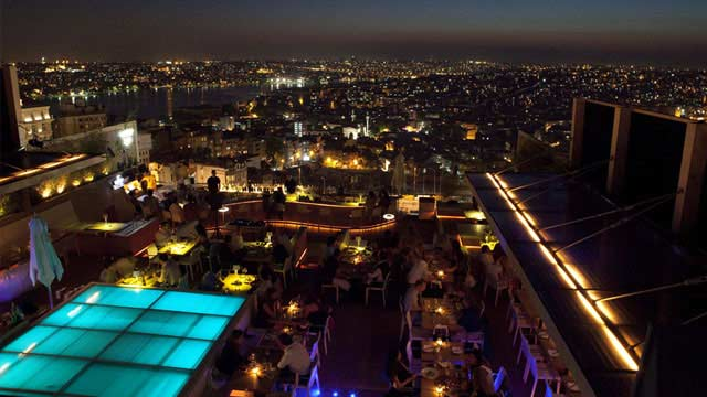 Rooftop bar Istanbul NuTeras in Istanbul