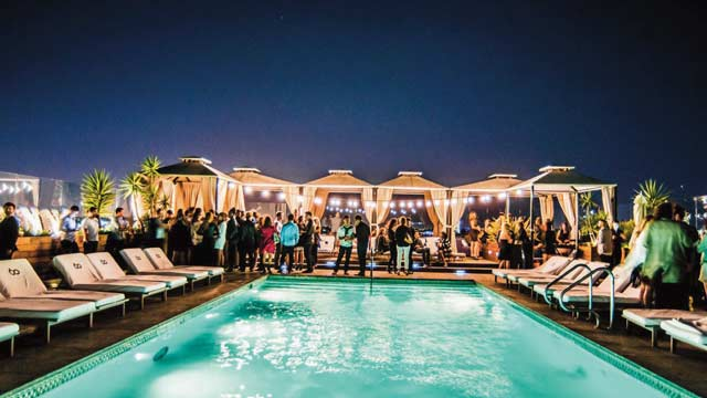 Takbar LA SIXTY Beverly Hills Rooftop i Los Angeles