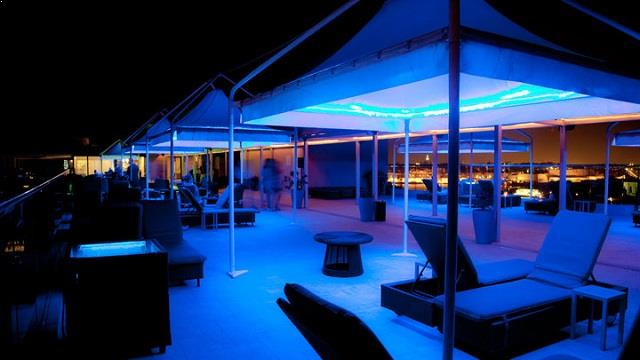 Rooftop bar Lounge 360 at The palace in Malta