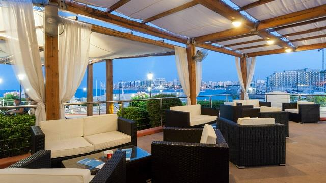 Rooftop bar Hilton in Malta